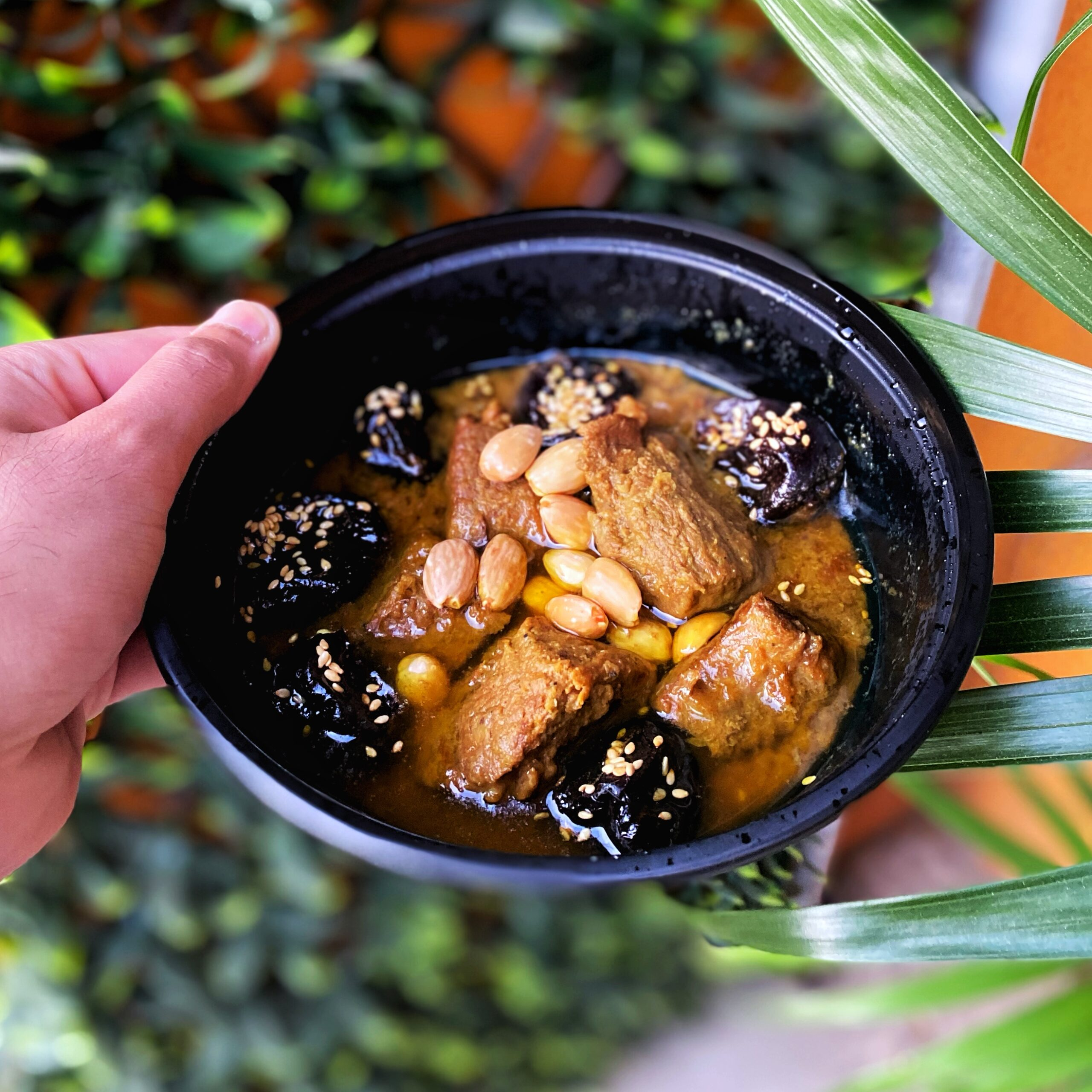 Lamb tajine with caramelized prunes and almonds at Imlil Moroccan Cuisine, a new restaurant in Toronto
